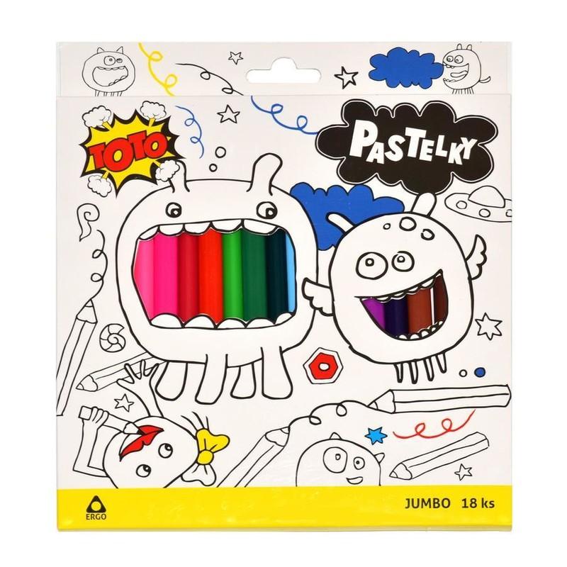 WIKY - Pastelky 5033 JUMBO 18ks, Triangel-barvy 0,170 kg