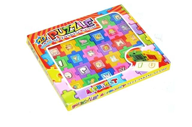 WIKY - Razítko puzzle 2D písmenka