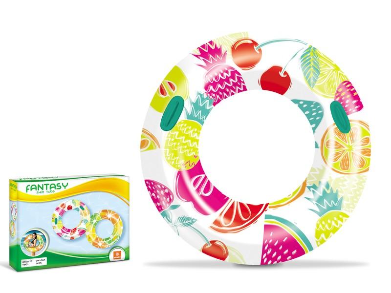 WIKY - Plavací kruh ovoce 106cm - citrón