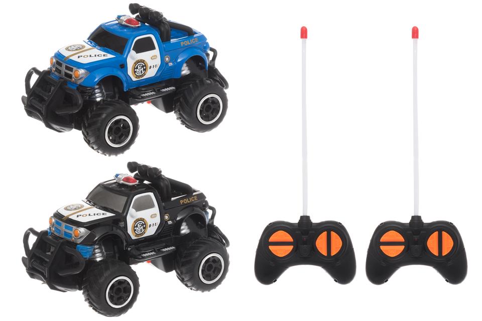 WIKY - Policejní auto RC 14cm - černá