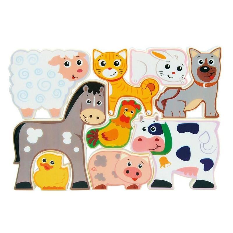 WIKY - Puzzle zvířátka z farmy