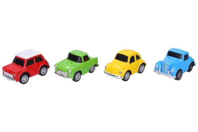 WIKY - Retro auta kovové 7cm - žlutá