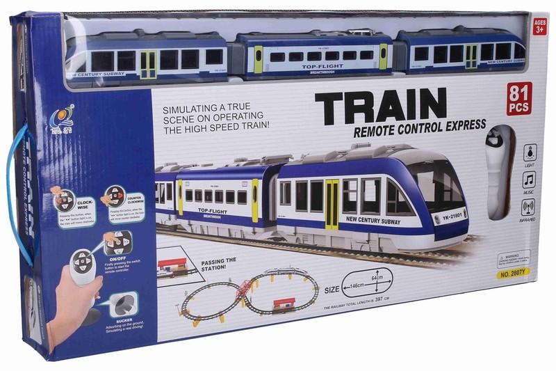 WIKY - Vlaková souprava set RC s efekty 146x64cm