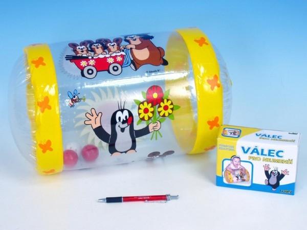 WIKY - Válec s rolničkou Krtek plast nafukovací 40cm v krabičce 6m+