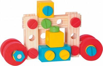 WOODY - Montážní stavebnice v kyblíku