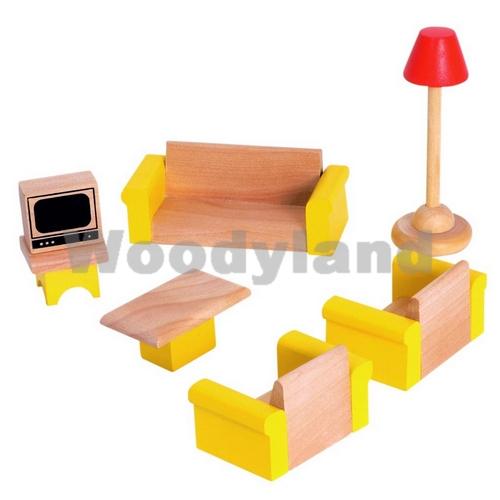 WOODY - Nábytek do domčekov- obývací pokoj