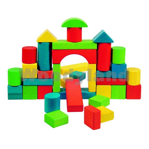 WOODY - stavebnice - kostky 36 ks