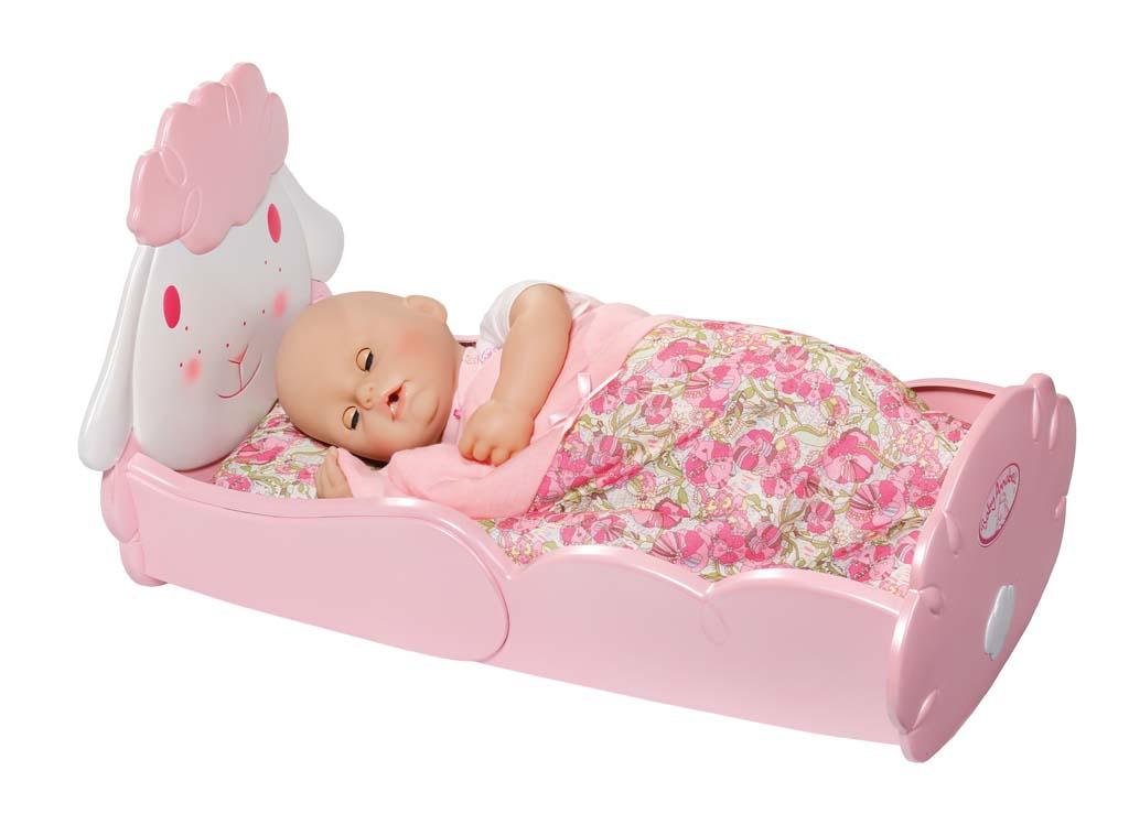 Zapf Creation - Baby Annabel Postýlka s ovečkou 793688