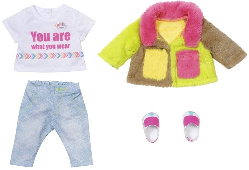 ZAPF CREATION - BABY born Souprava s barevným kabátem Deluxe, 43 cm