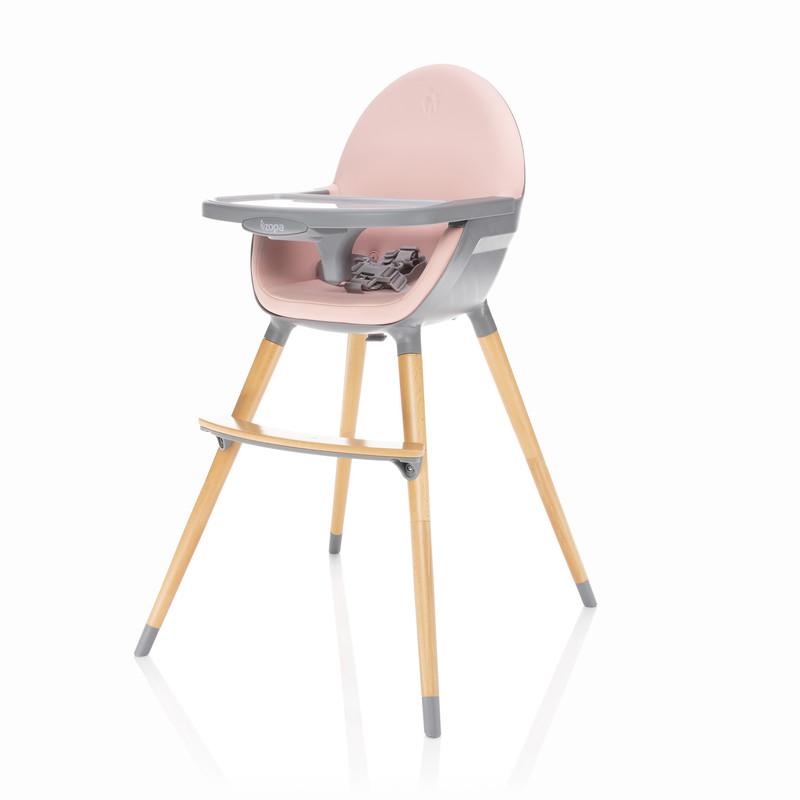 ZOPA - Dětská židlička Dolce, Blush Pink/Grey
