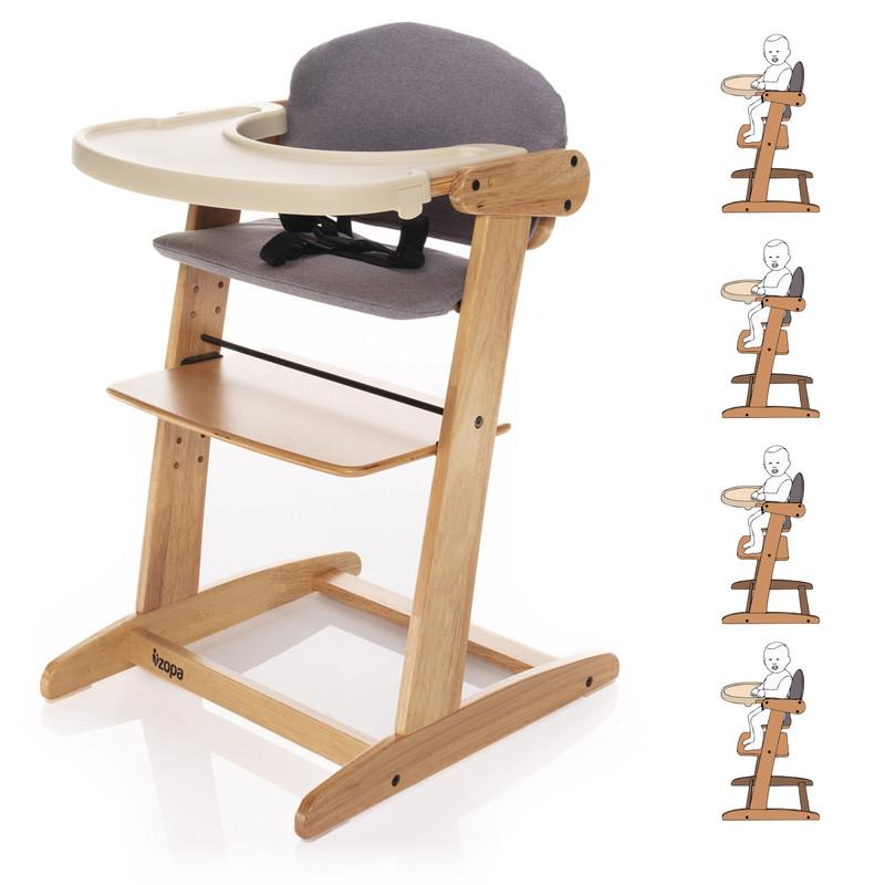 ZOPA - Grow-up rostoucí židlička, Natur / Grey