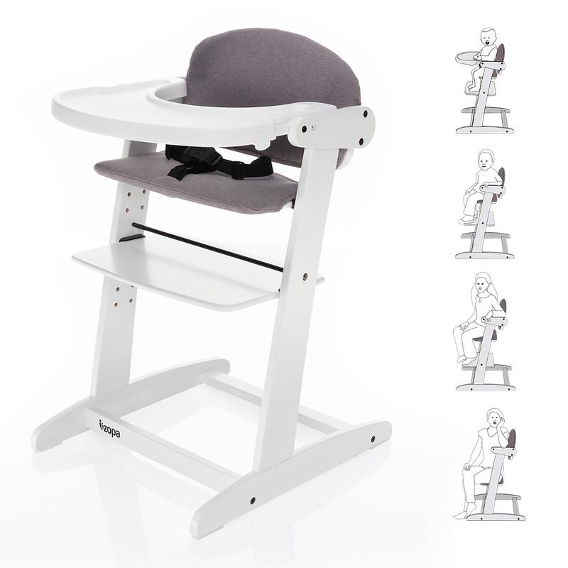 ZOPA - Grow-up rostoucí židlička, White / Grey